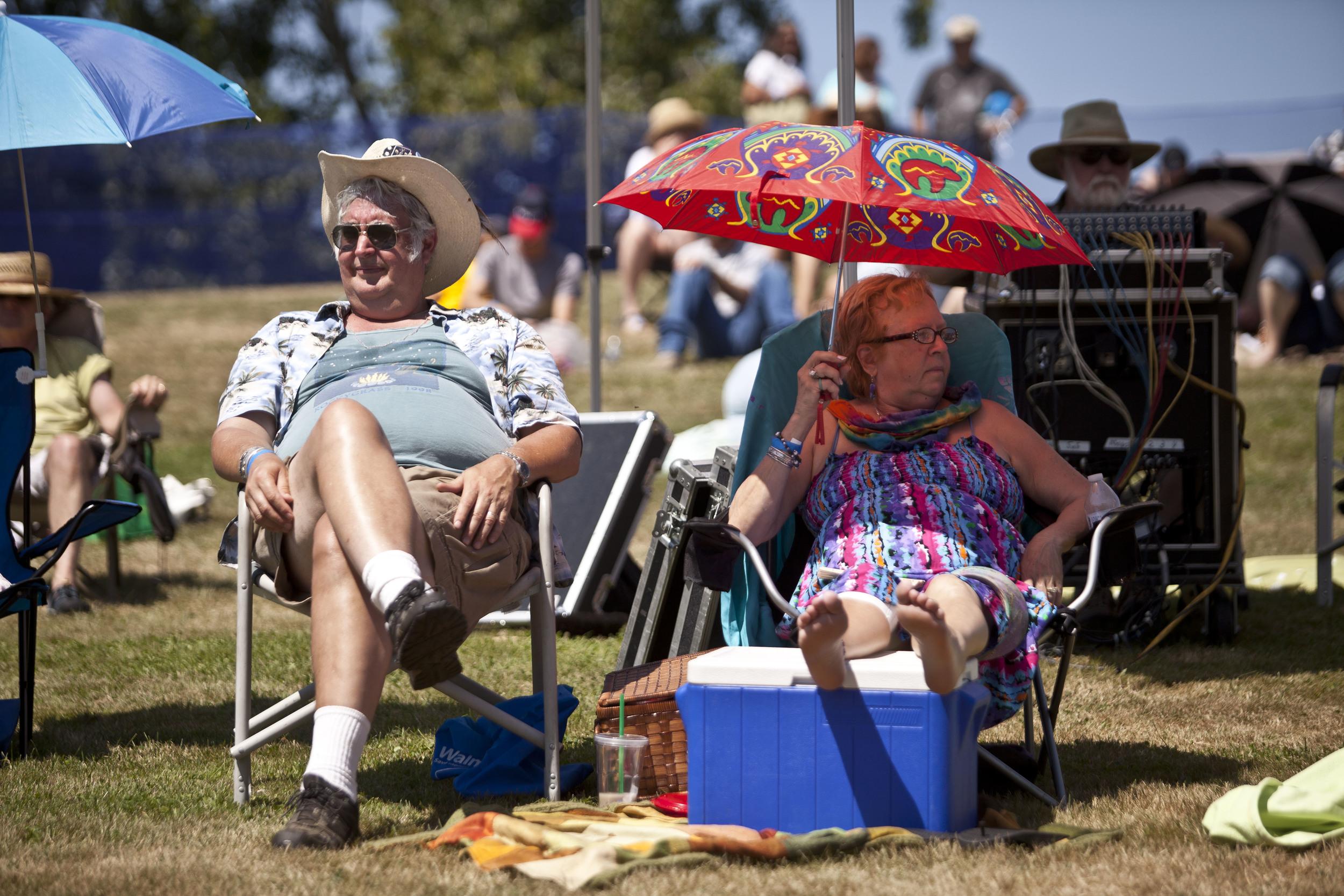One couple enjoys the show at the 2014 Bainbridge Island Bluegrass Festival.