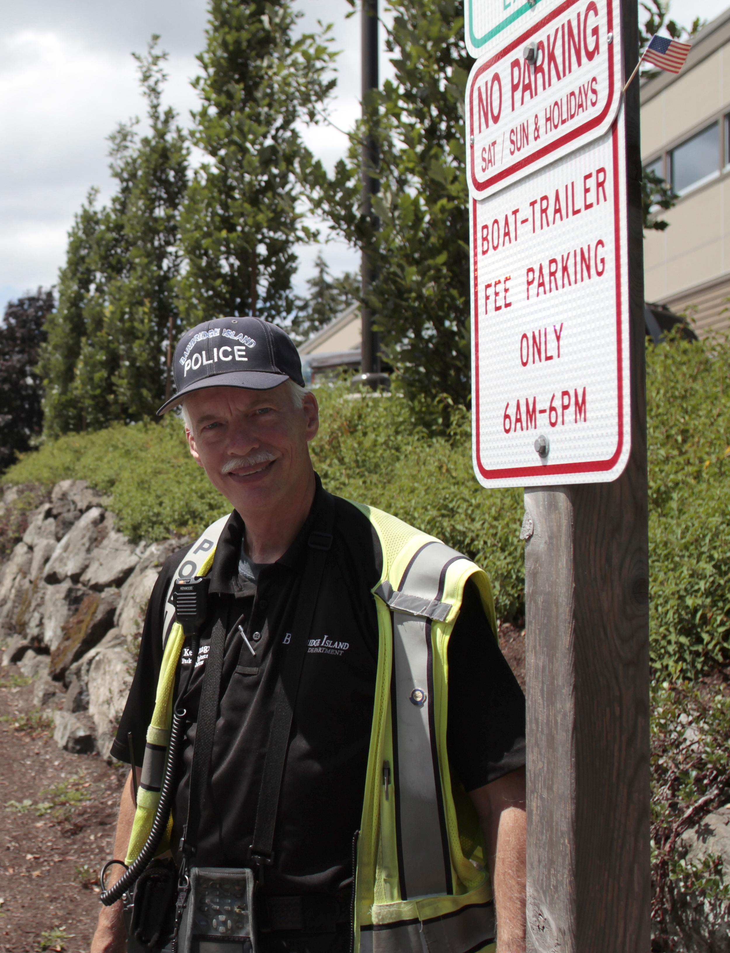 Bainbridge Island Police Department Parking Enforcement Officer Ken Lundgren.