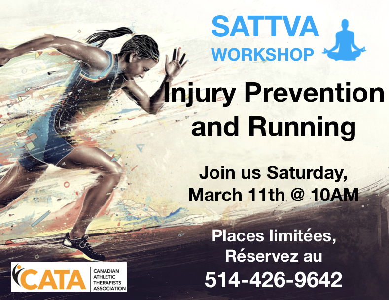 injury prevention and running workshop sattva beaconsfield west island