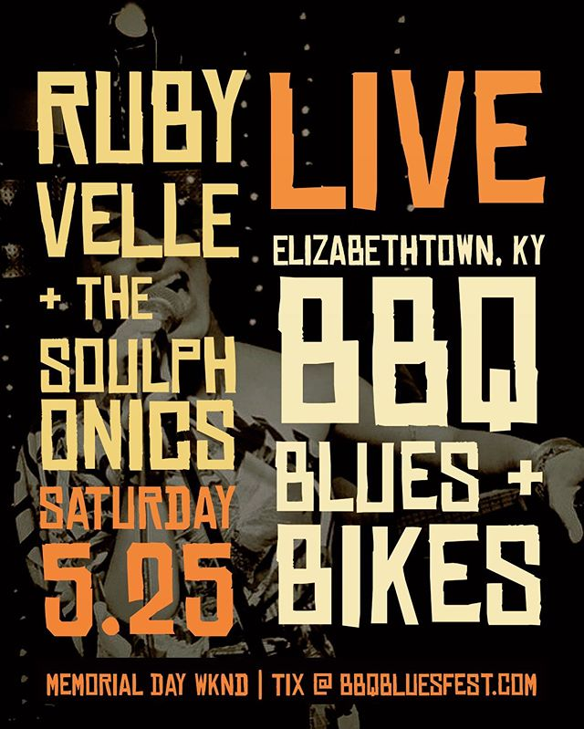 Next live show is #memorialdayweekend in #elizabethtownky | Visit bbqbluesfest.com for more!
