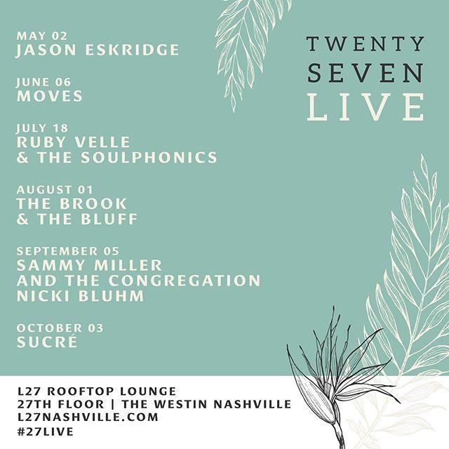 @rubyvelleandthesoulphonics live in #nashville @l27rooftop @westinnashville on 7.18 gonna soak in the rooftop vibes 💯💫☀️