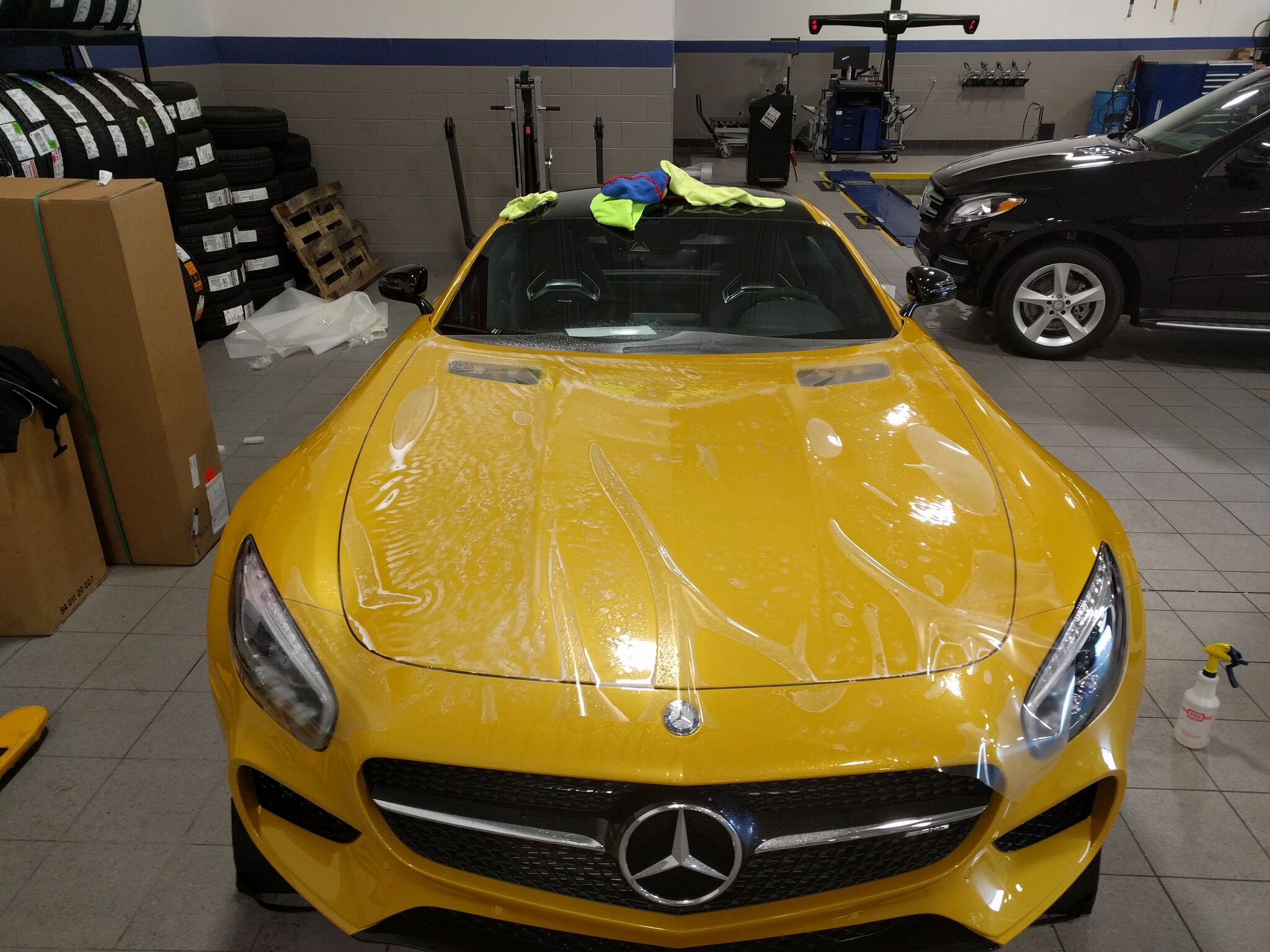Mercedes AMG GTS gets Xpel Paint Protection 3