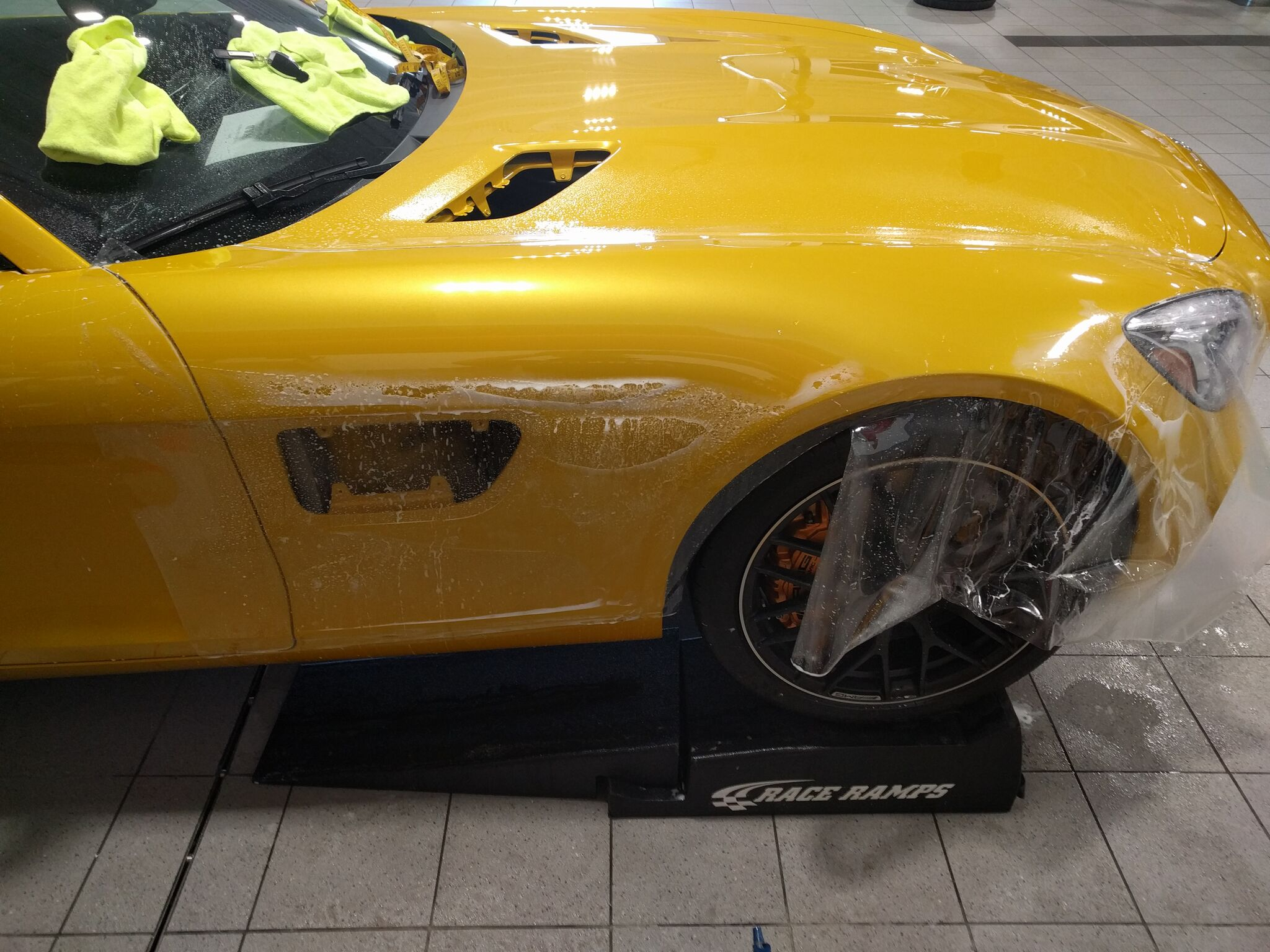 Mercedes AMG GTS gets Xpel Paint Protection 4