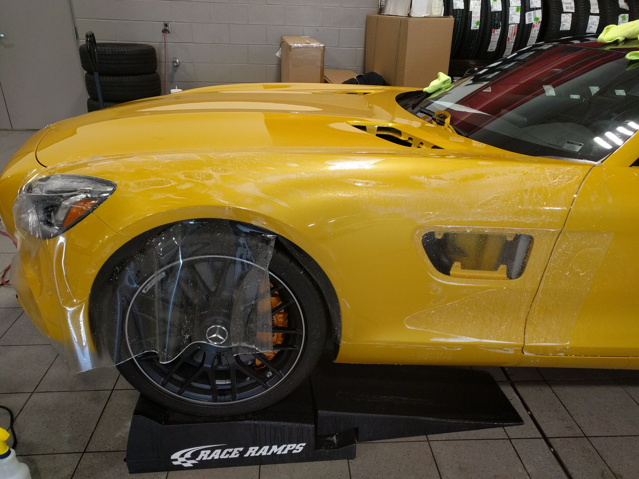Mercedes AMG GTS gets Xpel Paint Protection 5