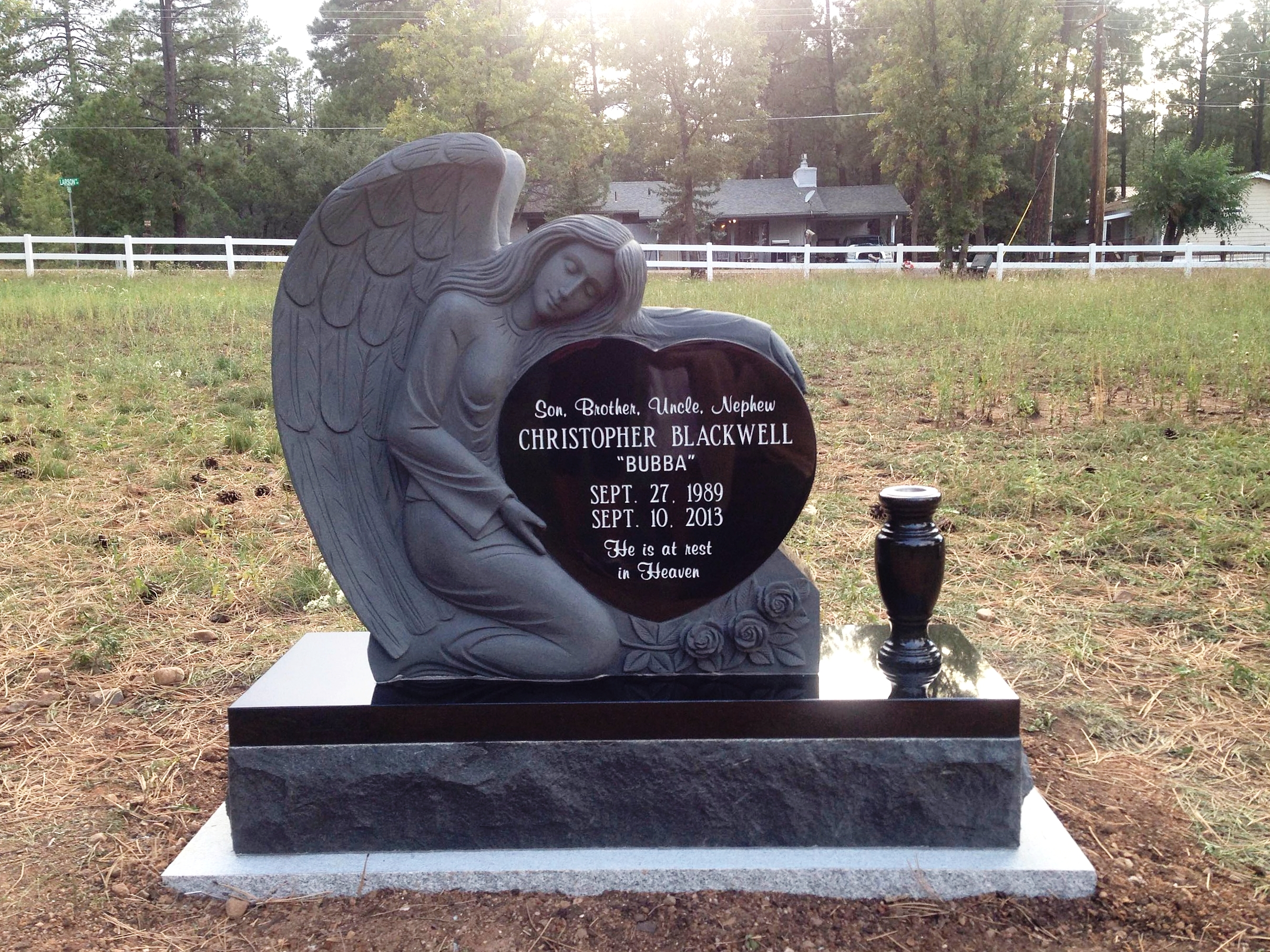 Angel Heart - Black Granite