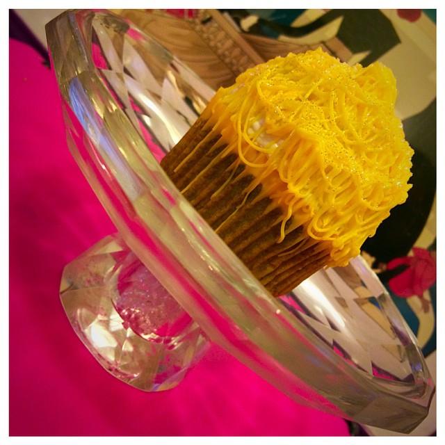 White chocolate topped Pineapple Carrot Cupcakes. $40 a dozen