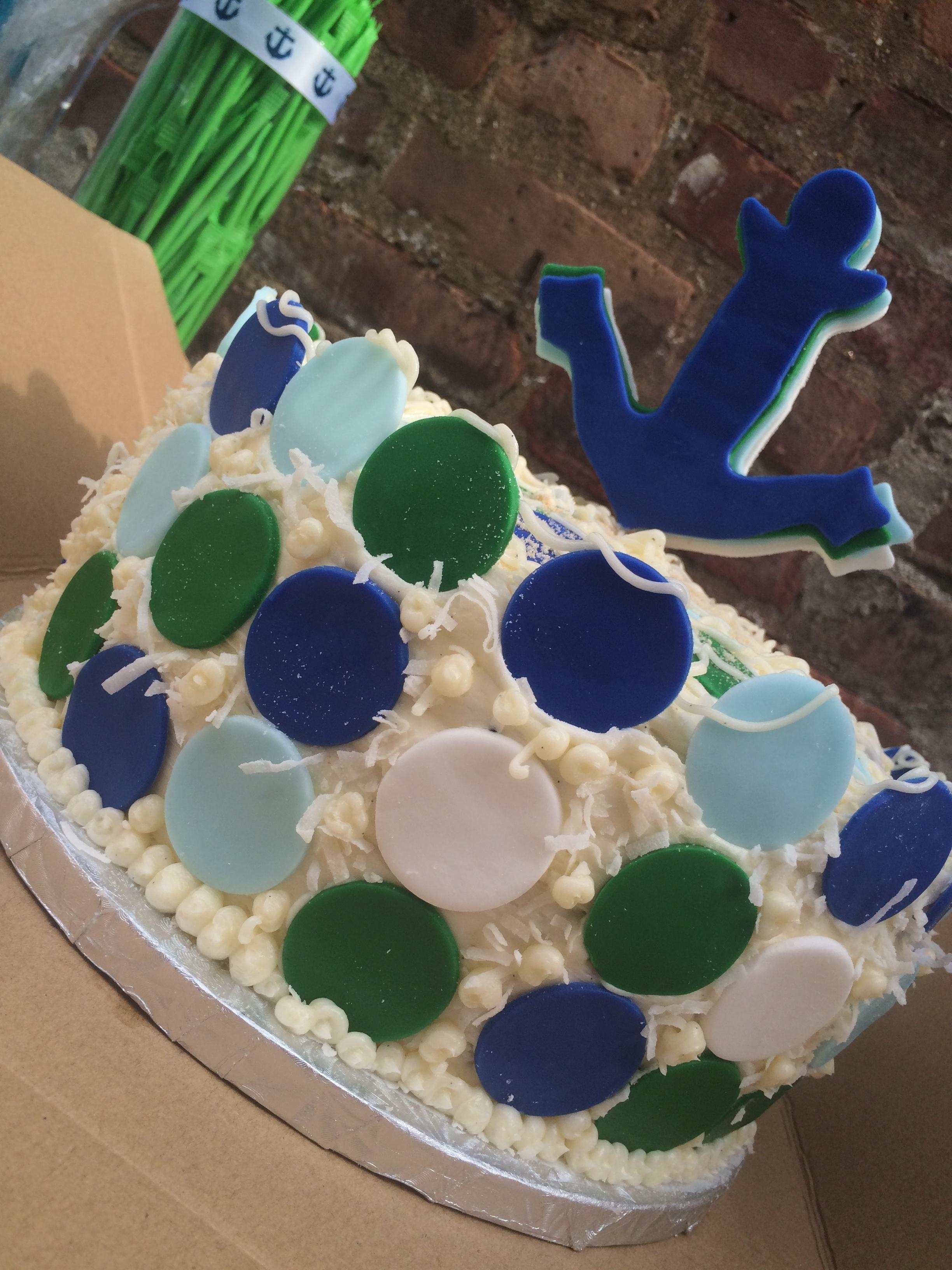 9 inch Sailor theme baby shower cake $175