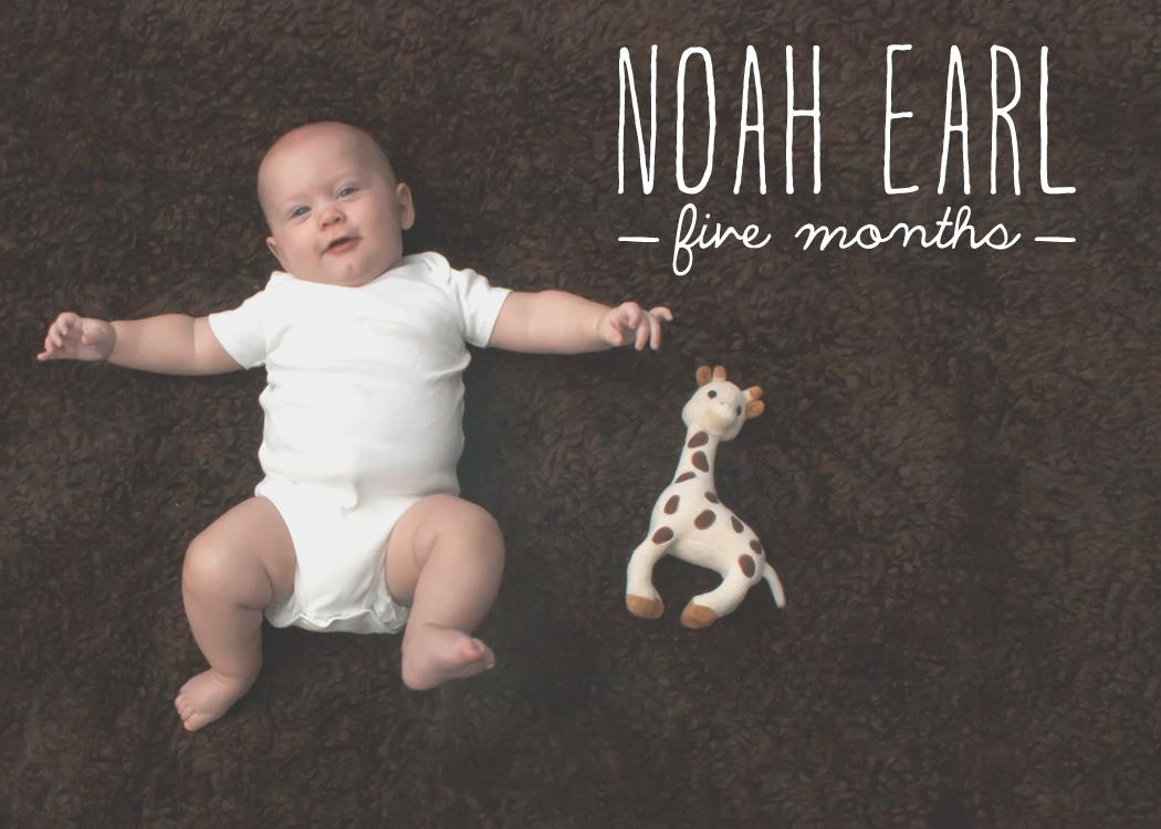 Noah's 5 Months #myonlysunshineblog