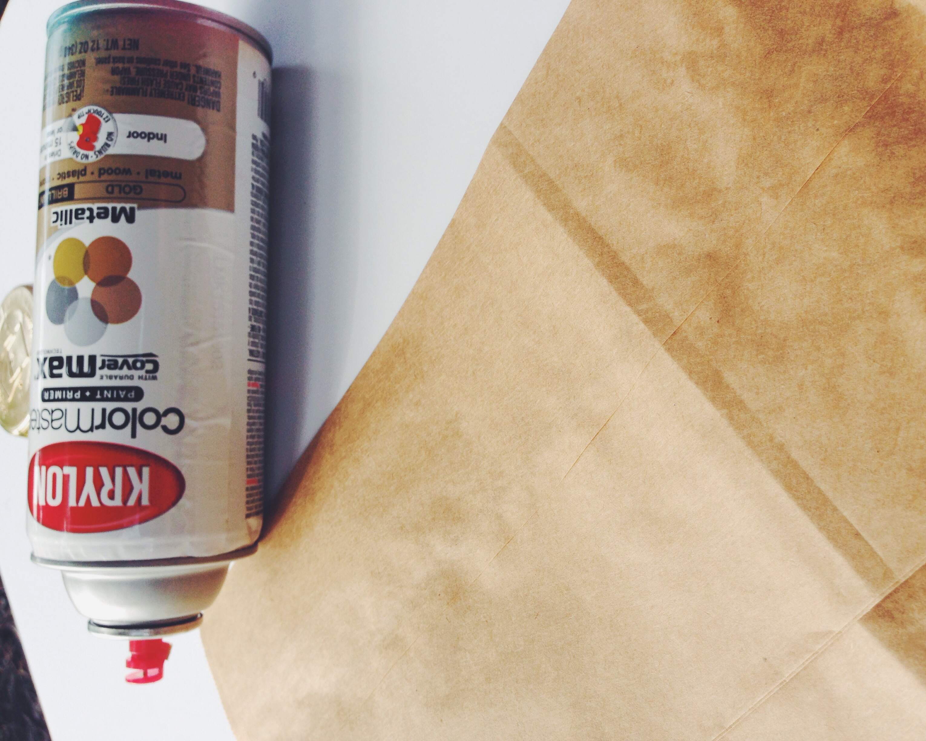 My Only Sunshine Blog || DIY Gold Paper Bags