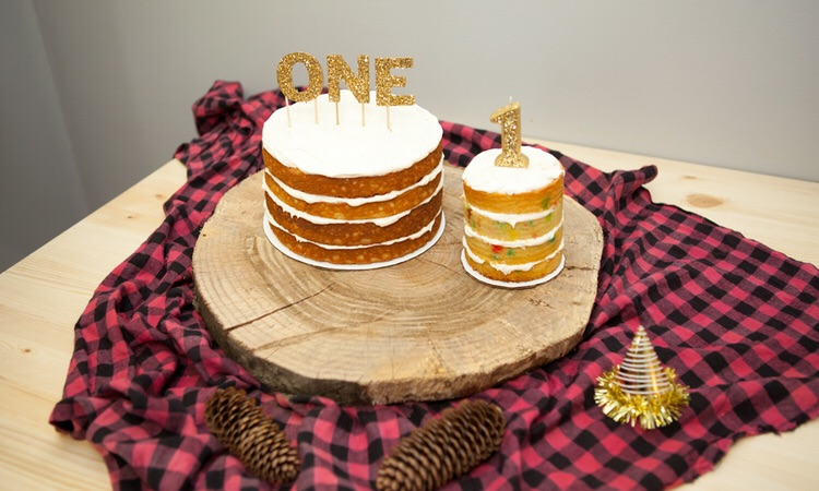 Naked Birthday Cakes + DIY Toppers (click through for details)