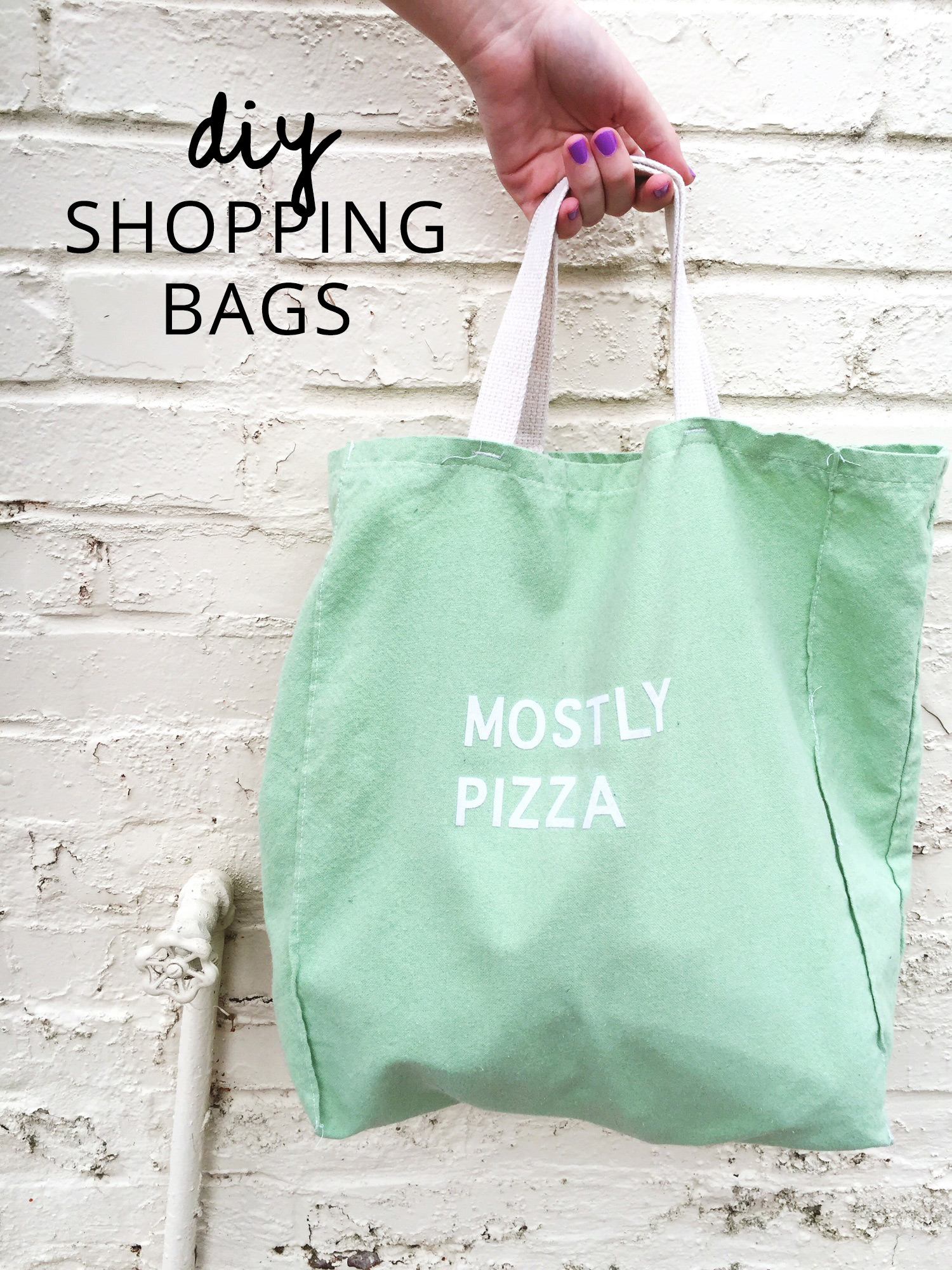 diy reusable shopping bags