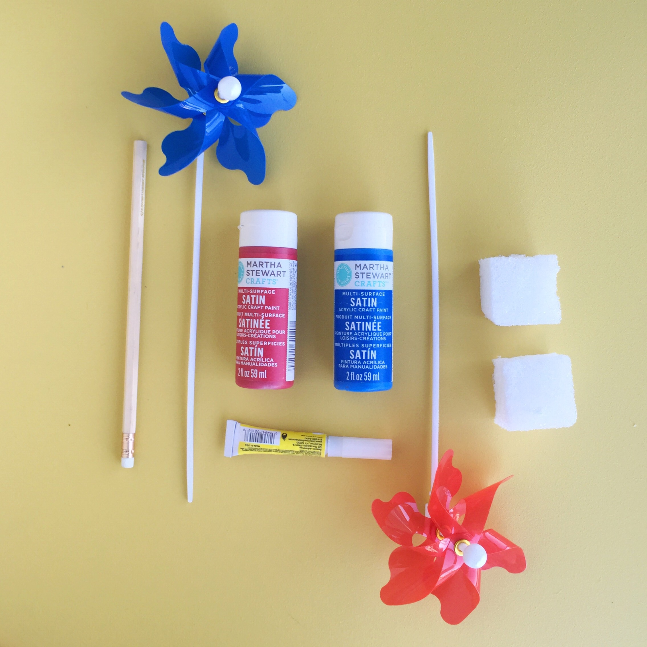 DIY Red, White, and Blue Pinwheel Decoration
