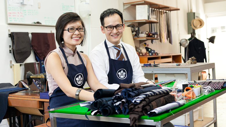 Vanda Fine Clothing. Making things by hand in Singapore.  Image by Jeri Collett.
