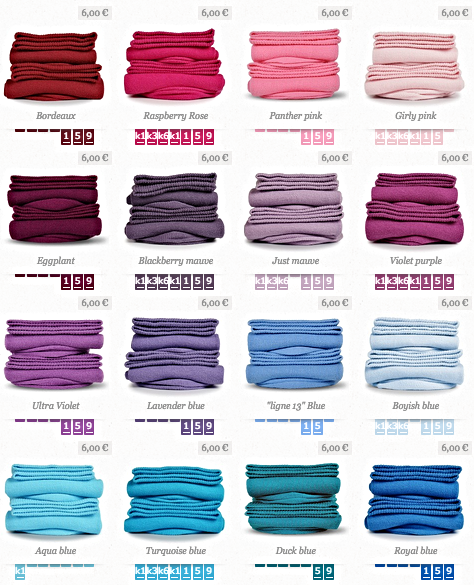 A new colour for each day of the week.