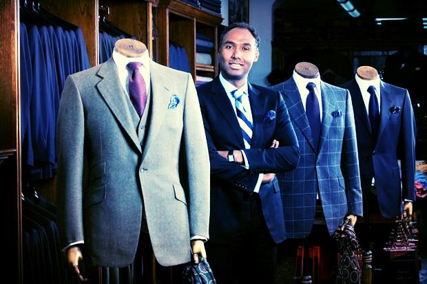 Mr. Roubi L'Roubi with Huntsmans' suits.