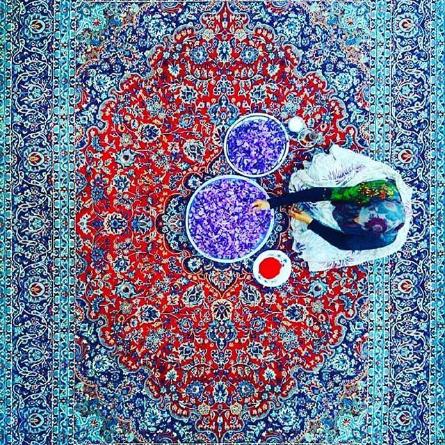 #PersianCarpet, #Iran, #Saffron