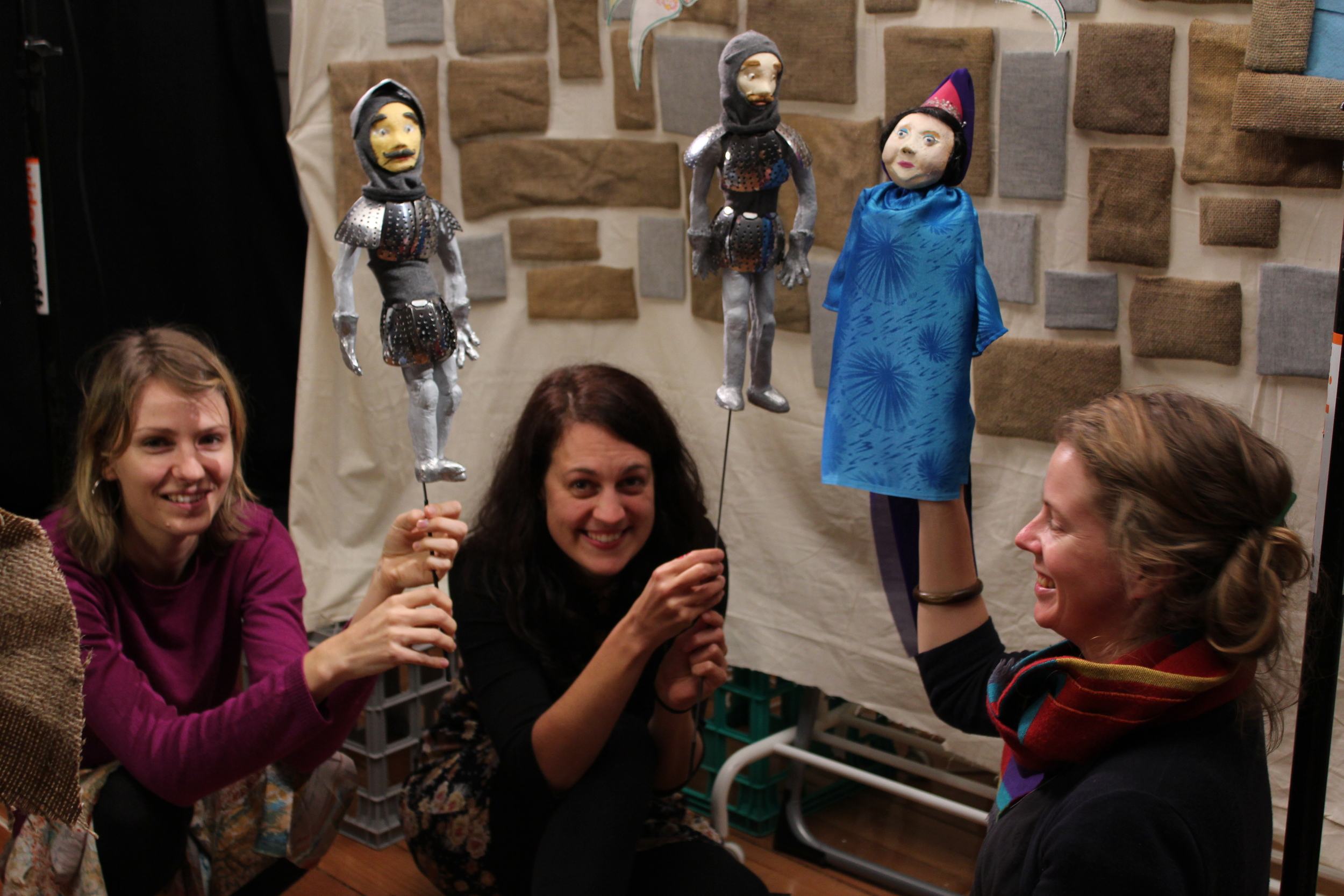 The Seam play with the puppets