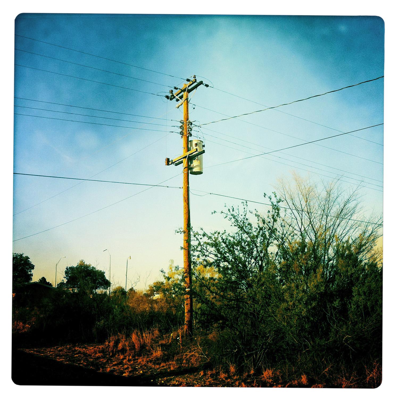Powerline in Marathon TX Texas