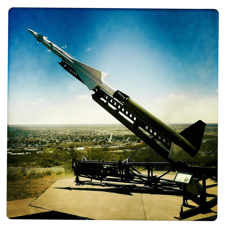 Rocket over Alamogordo NW New Mexico