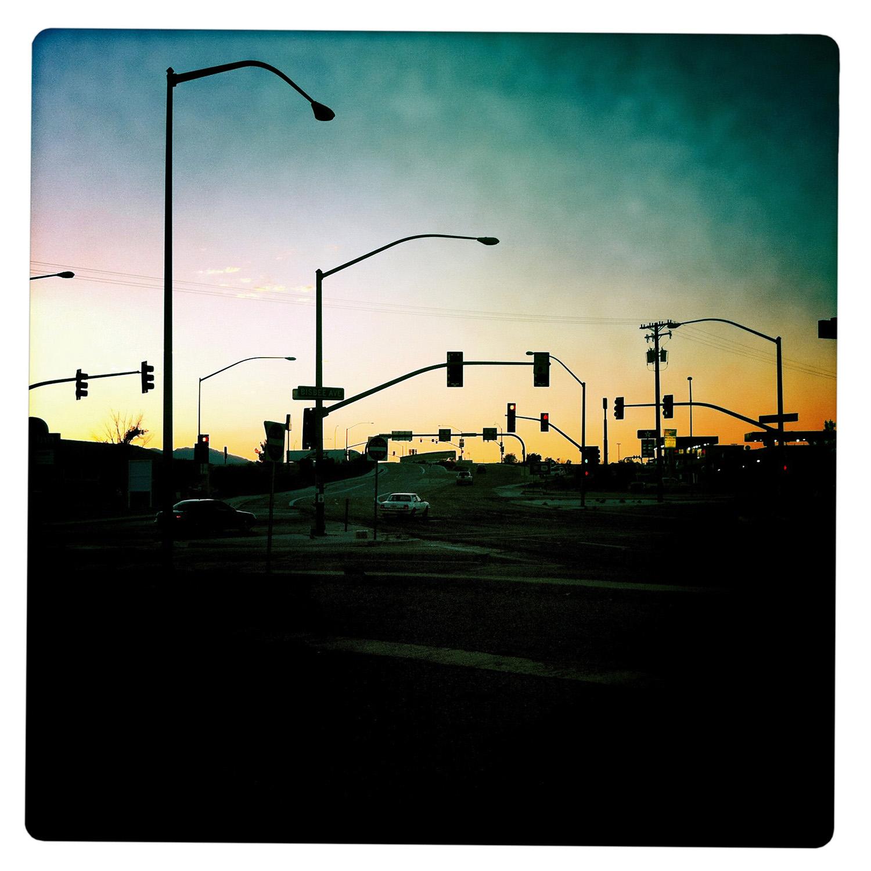 Dusk over Traffic in Willcox AZ Arizona