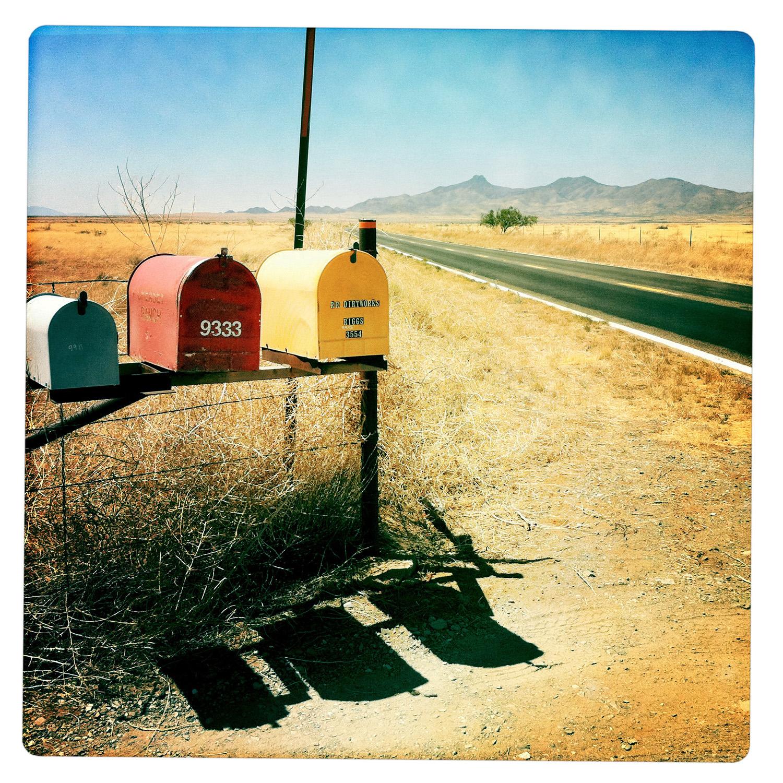 Letter Boxes on the 186 outside of Willcox AZ Arizona