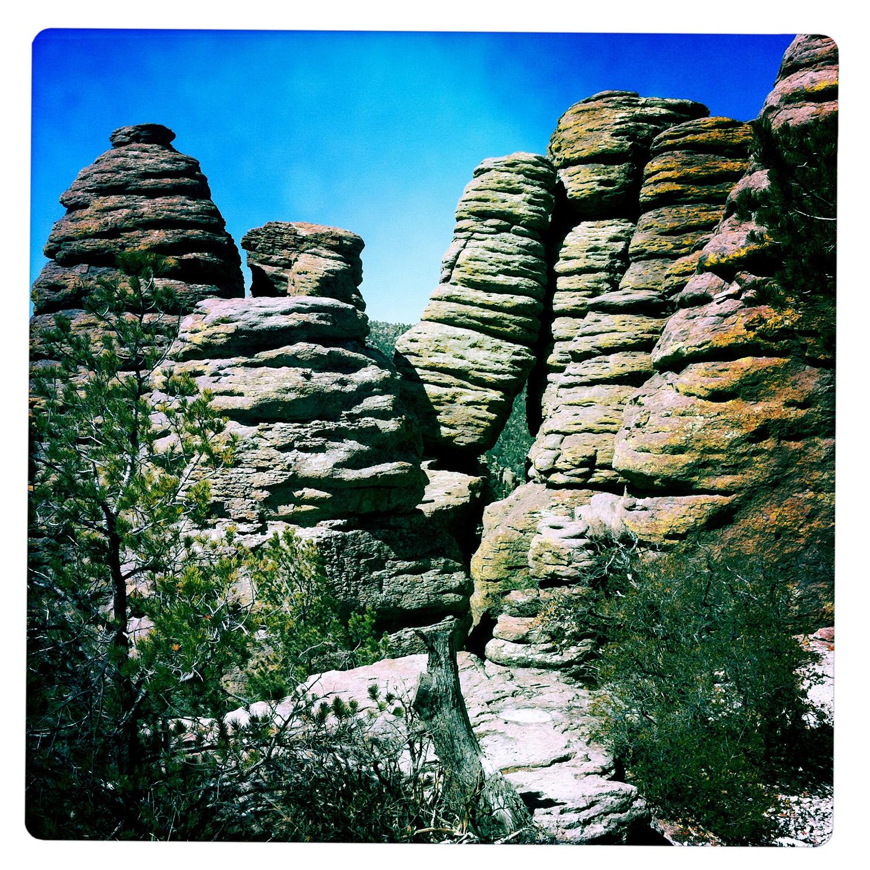 Collapsing Stones at Chiricahua National Monument AZ Arizona