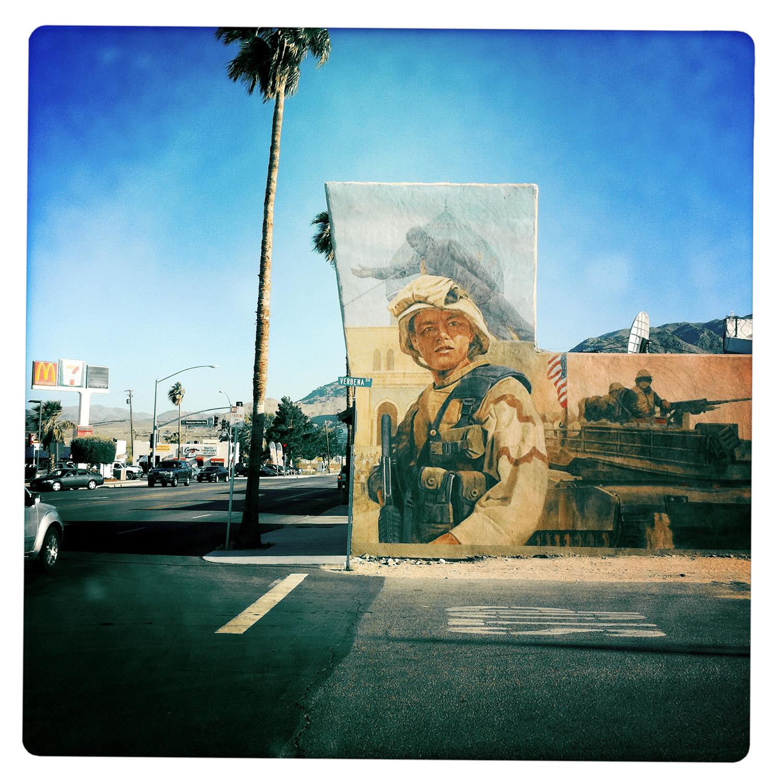 Wall Painting down in Twentynine Palms CA California