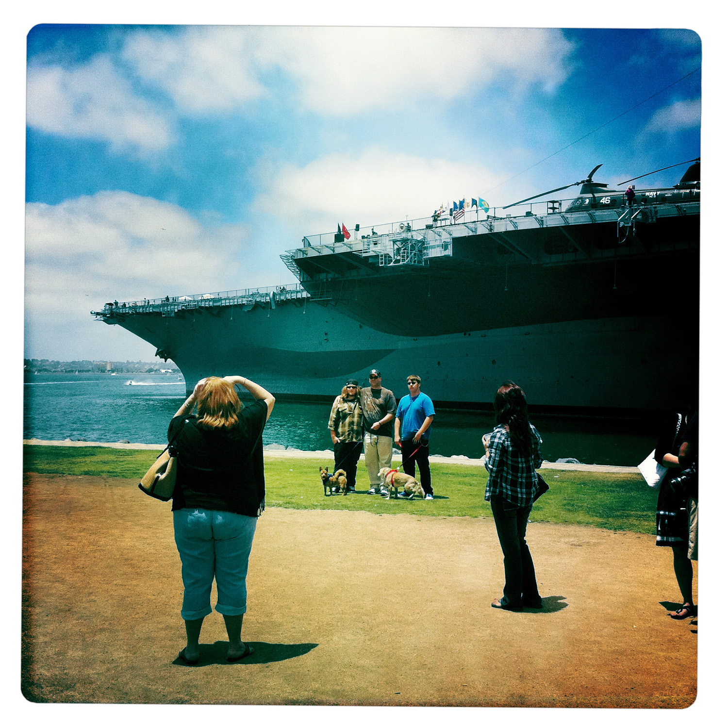 Familypicture in Front of USS Midway San Diego CA California