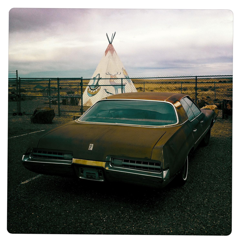 Rust on Wheels in Front of Tepee Painted Desert AZ Arizona