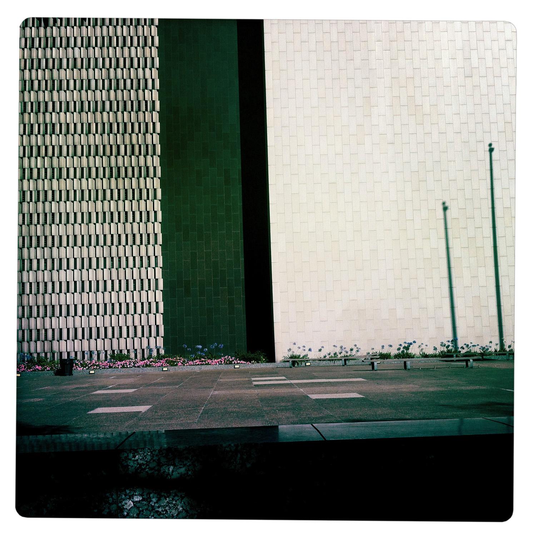 Sidewalk with Shadow in Downtown Los Angeles CA California