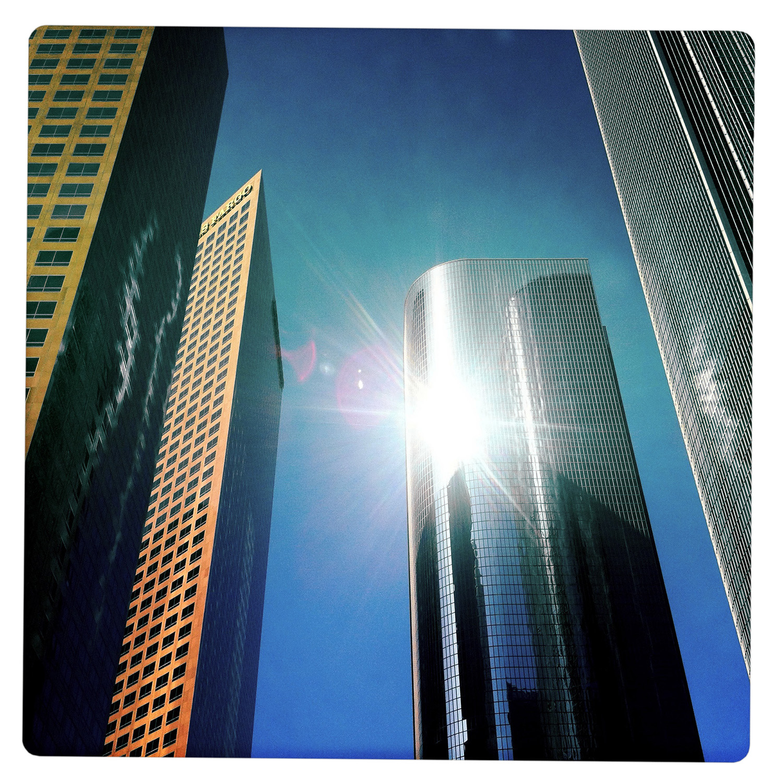 Skyline in Downtown Los Angeles CA California
