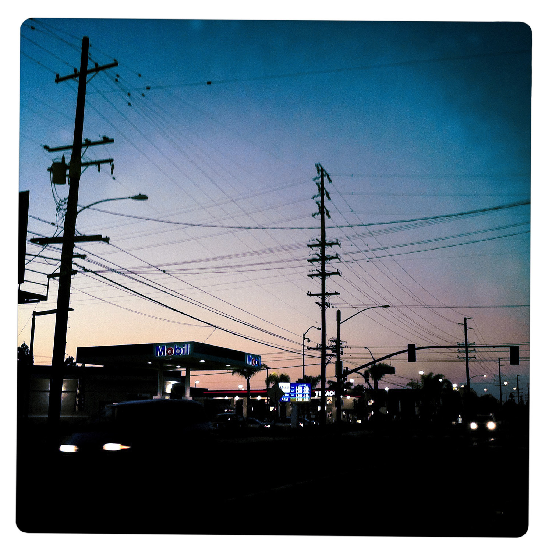 Traffic at Dusk near Buena Park Los Angeles CA California