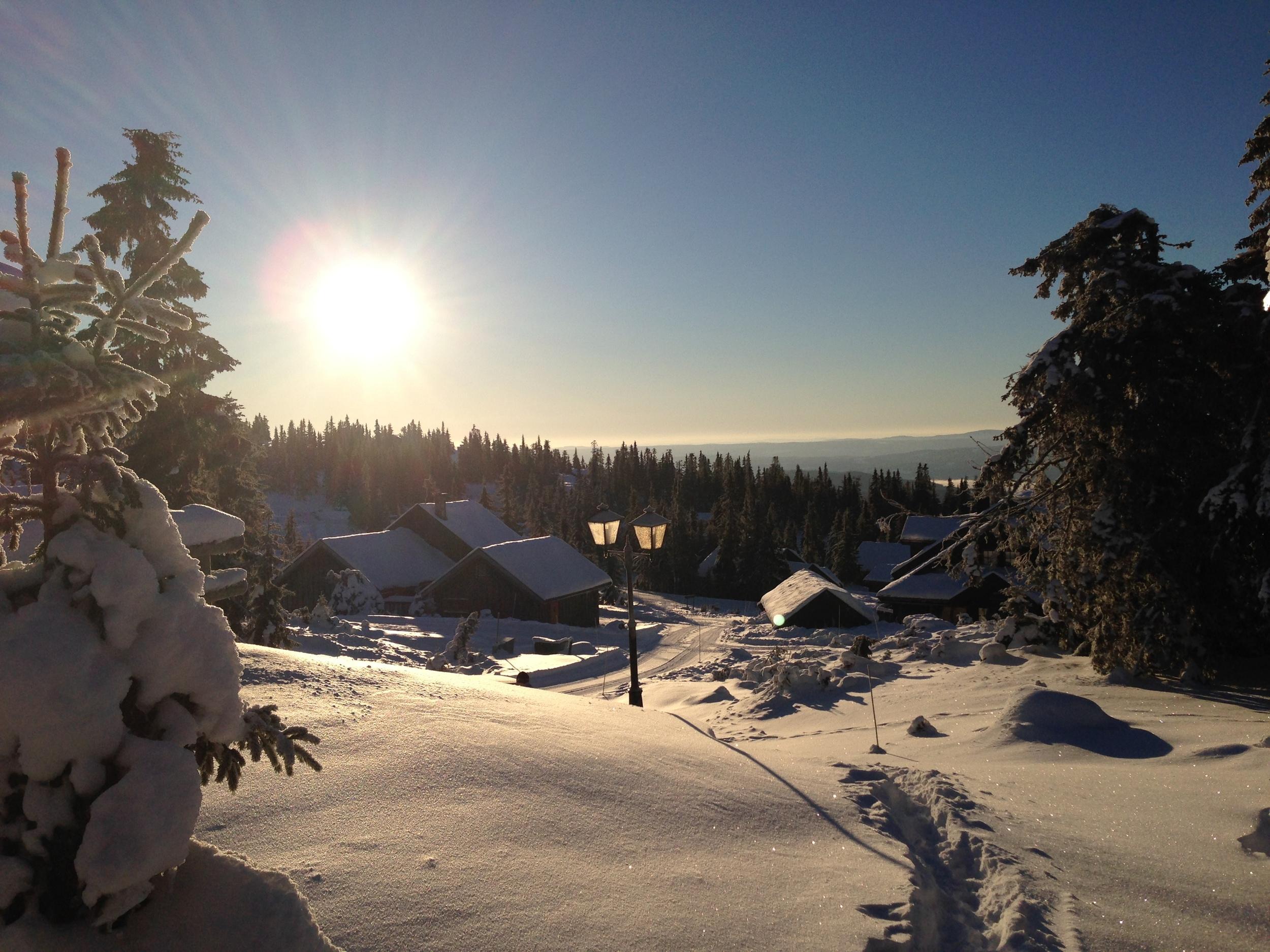 Utsikt fra hytta til kjæresten til Henriette på Hafjell forrige helg.