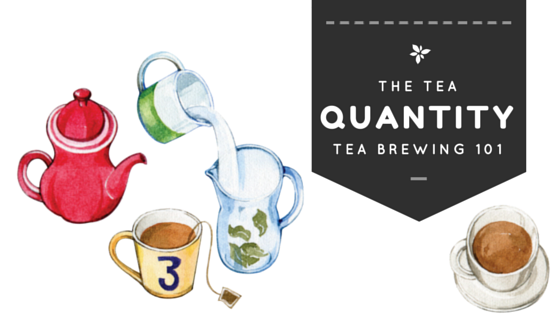 tea brewing 101 : Quantity