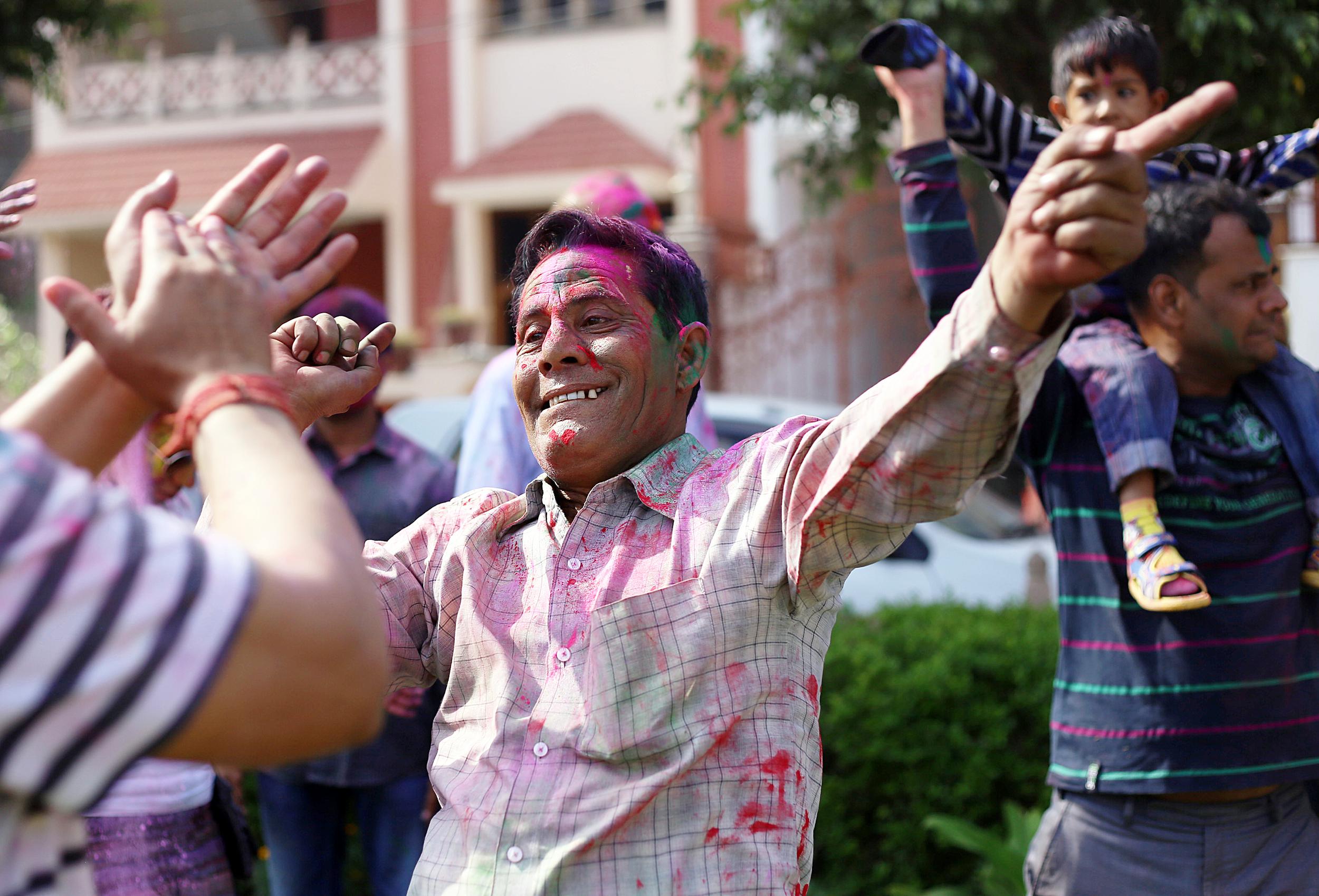 Men Celebrating - Mathura, India