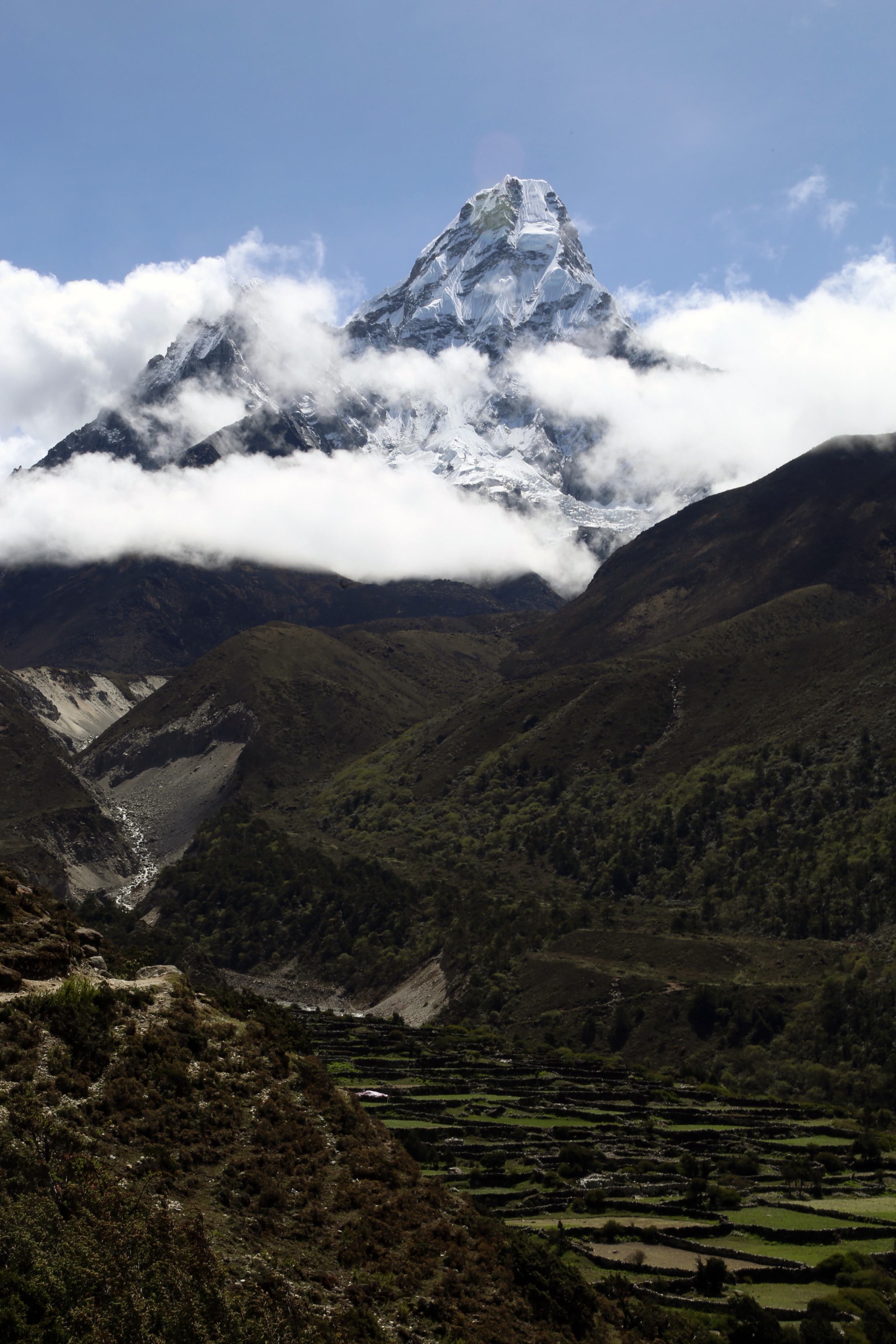 Ama Dablam and the valley