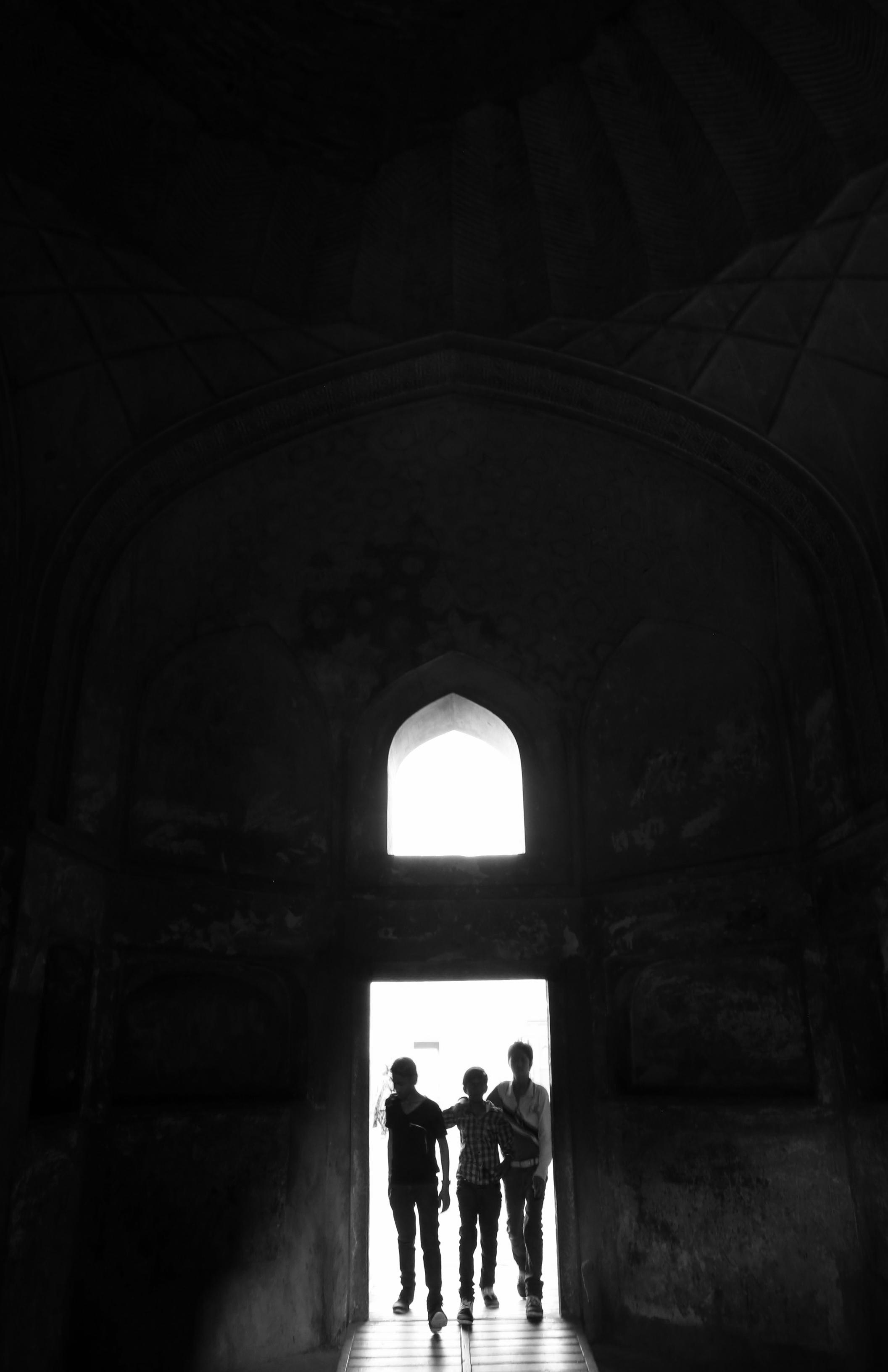 Teens exploring Elephanta Island