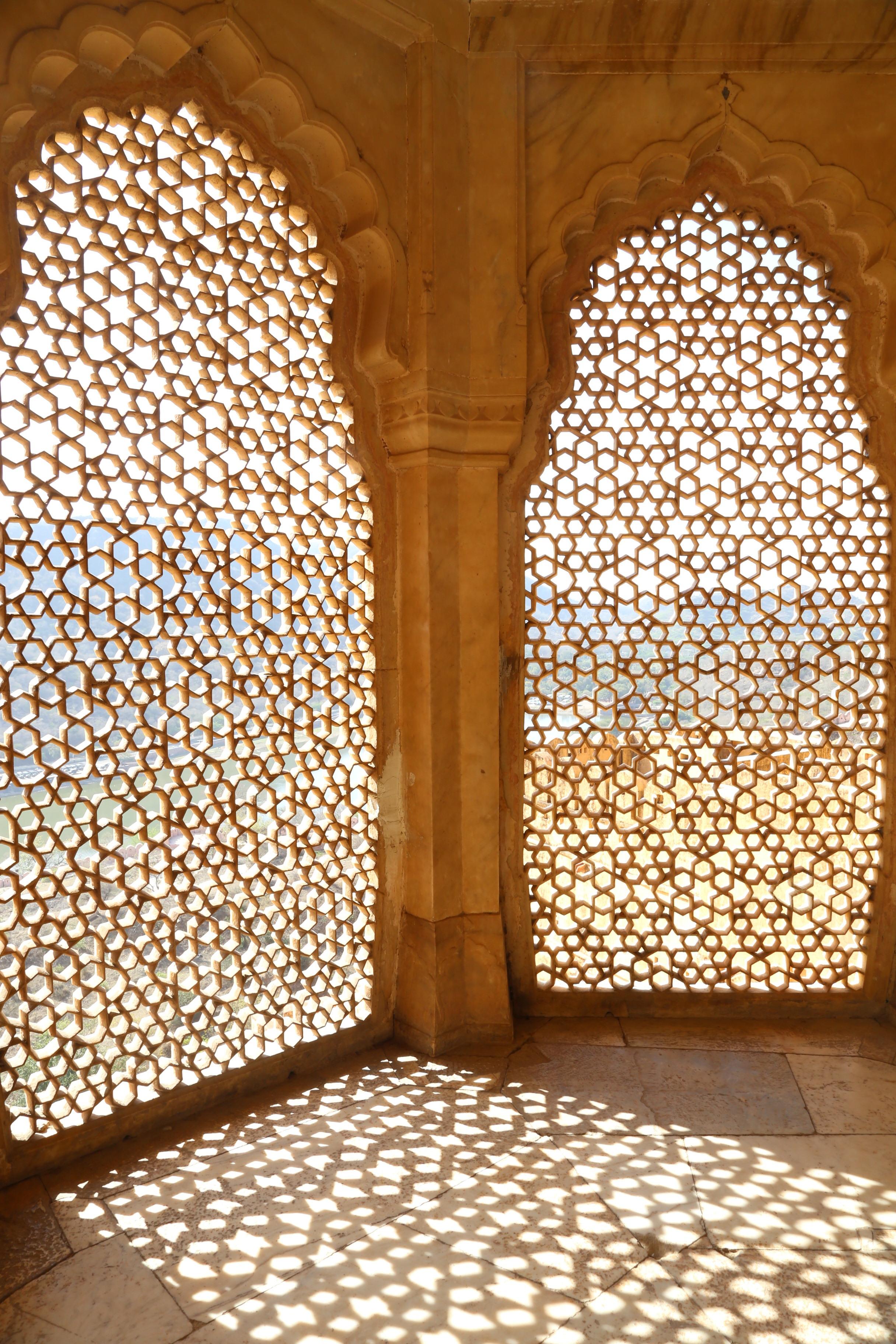 Shadow windows - Amer Fort