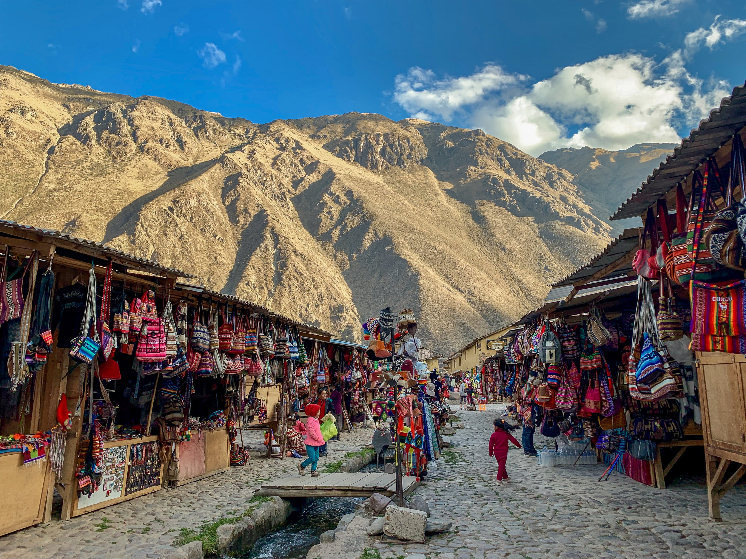 Market in the Andes - Ollantaytambo, Cusco Region