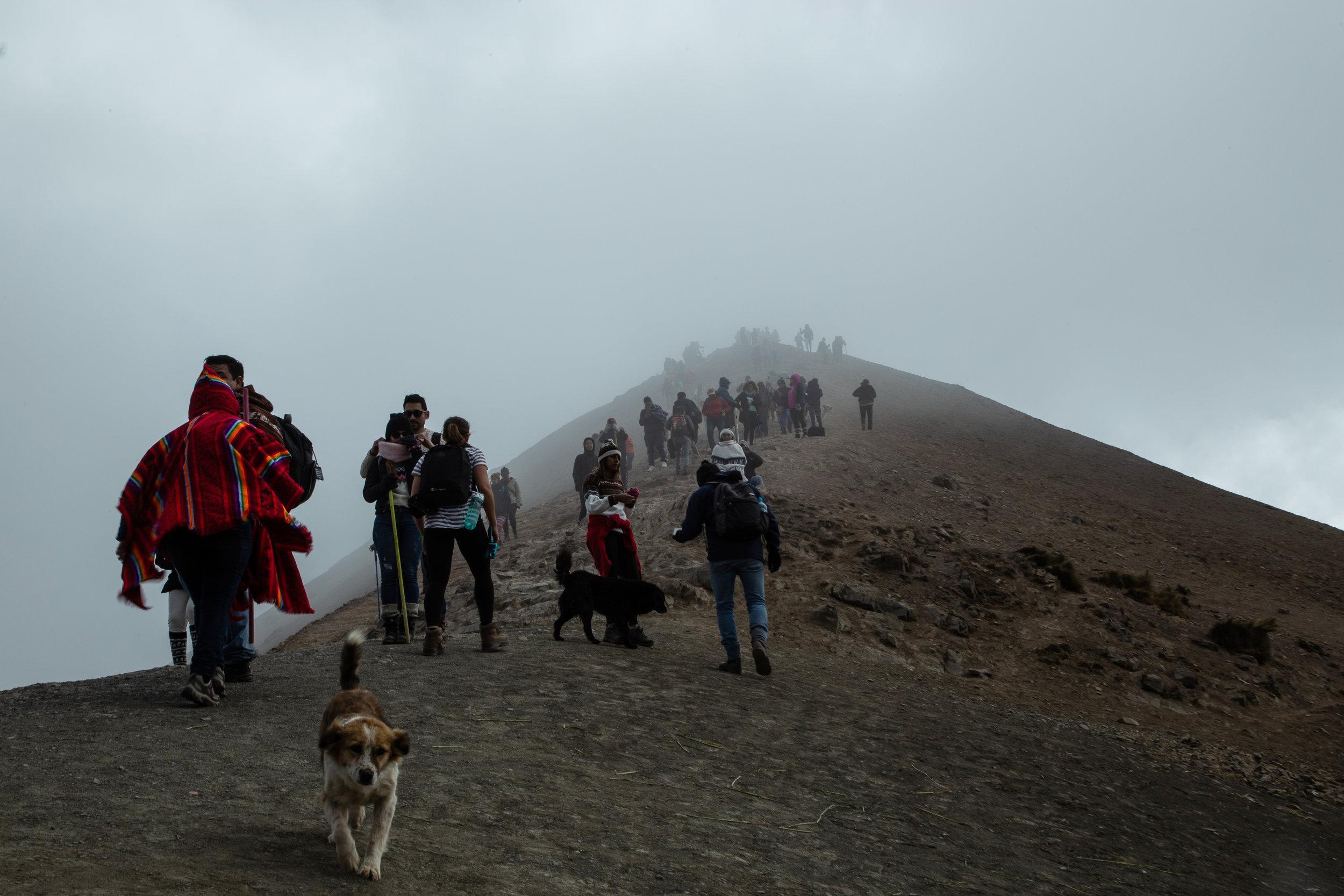 Into the clouds - Rainbow Mountain, Cusco Region