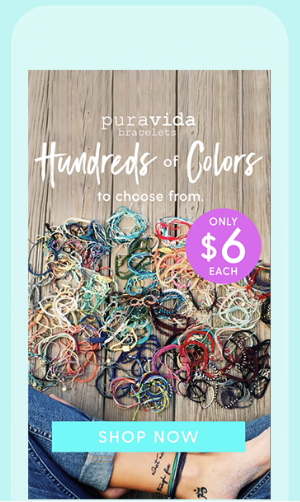 puravida clearly shares their message with a variety of font styles and colors.