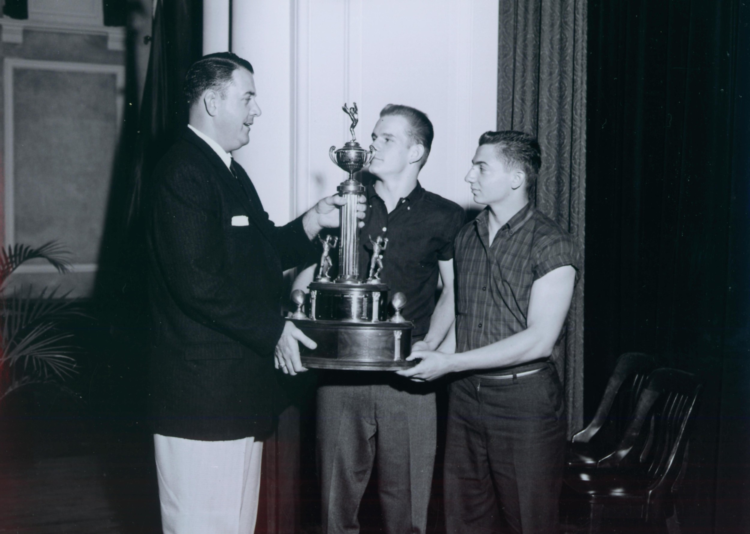 John O'Brien and Dick Purcell, Cocoa Bean Trophy 1960-61-1.jpg