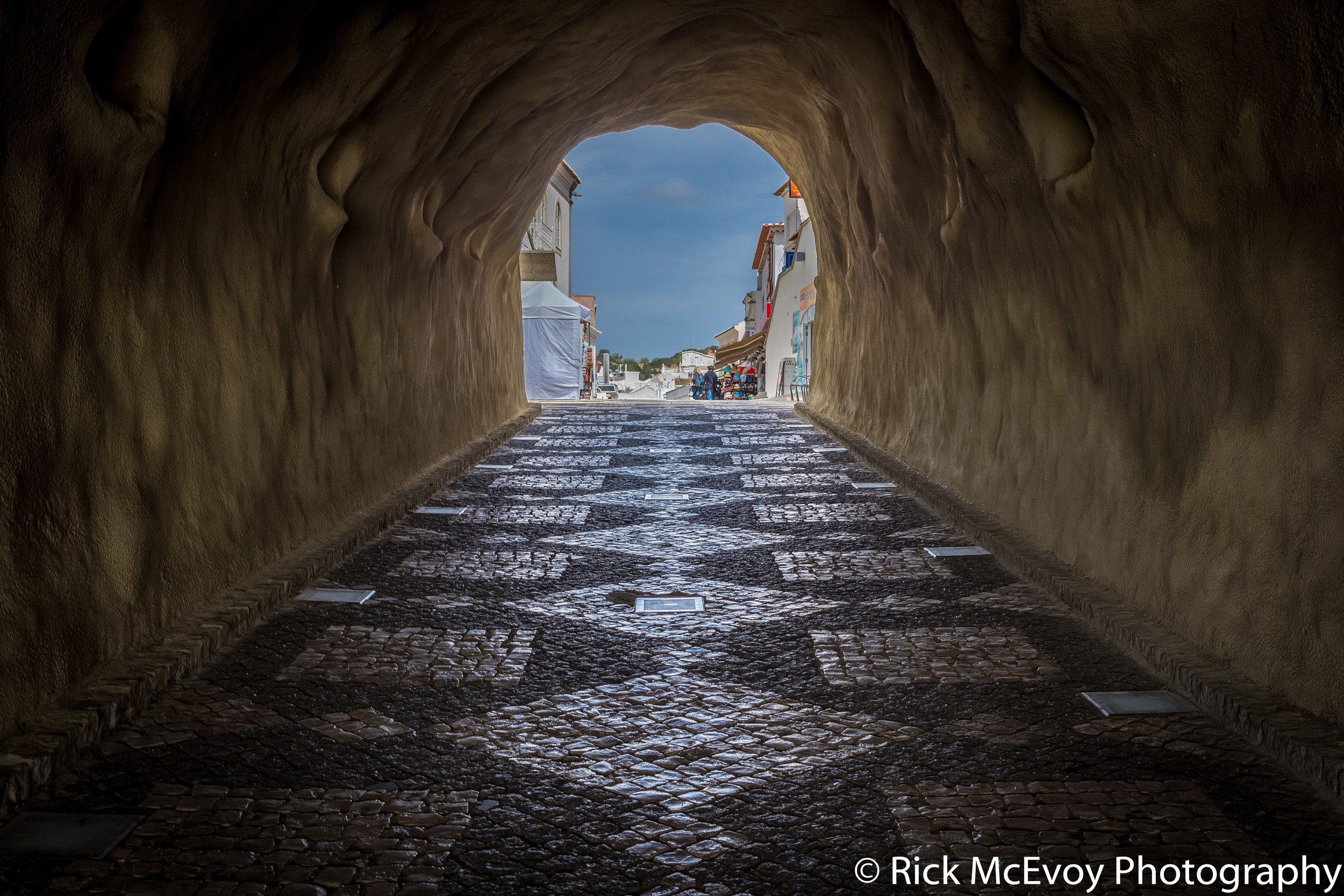 Tunnel, Albufeira, Portugal, by Rick McEvoy Photography