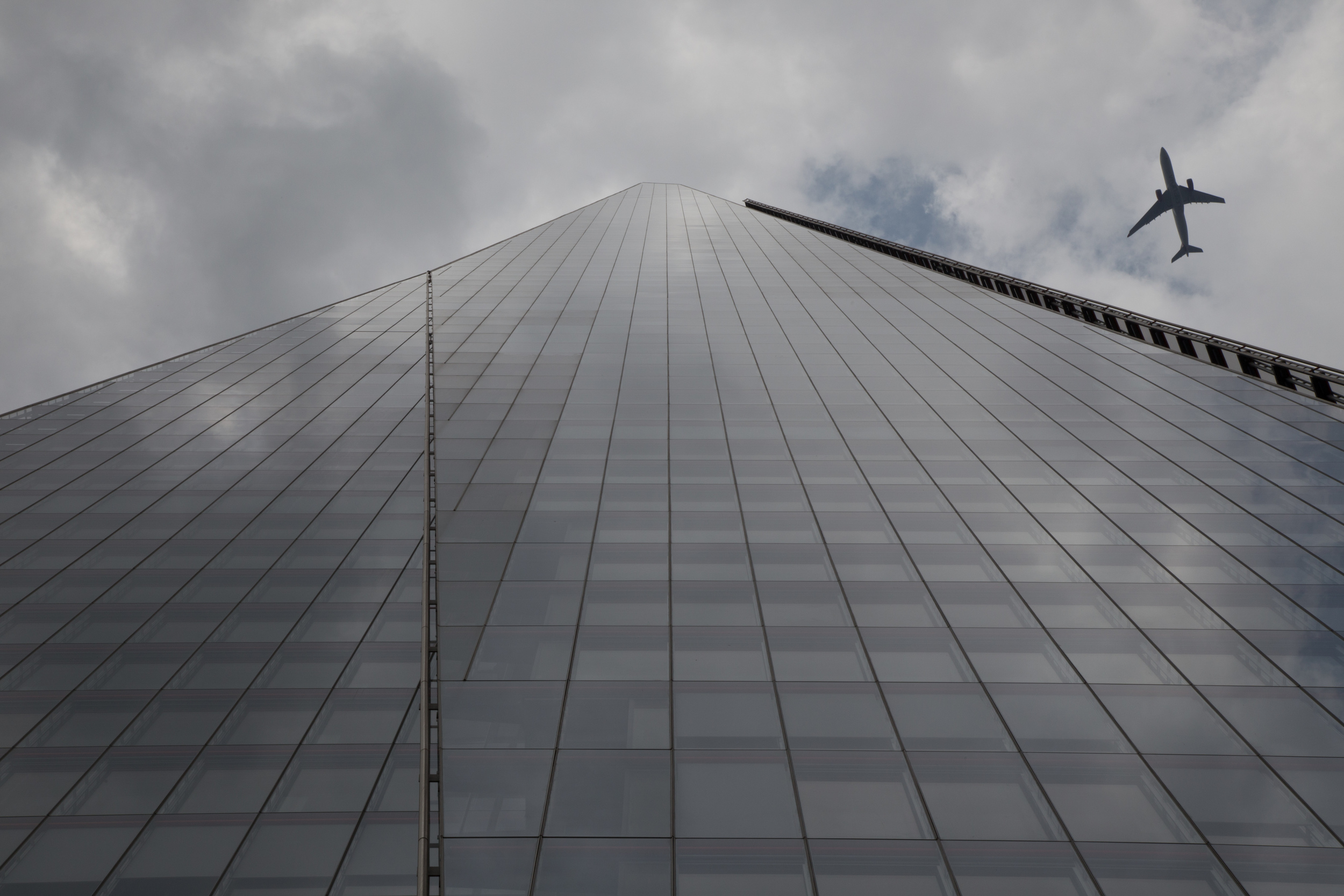 This is the RAW straight out of the camera shot of the Shard in London