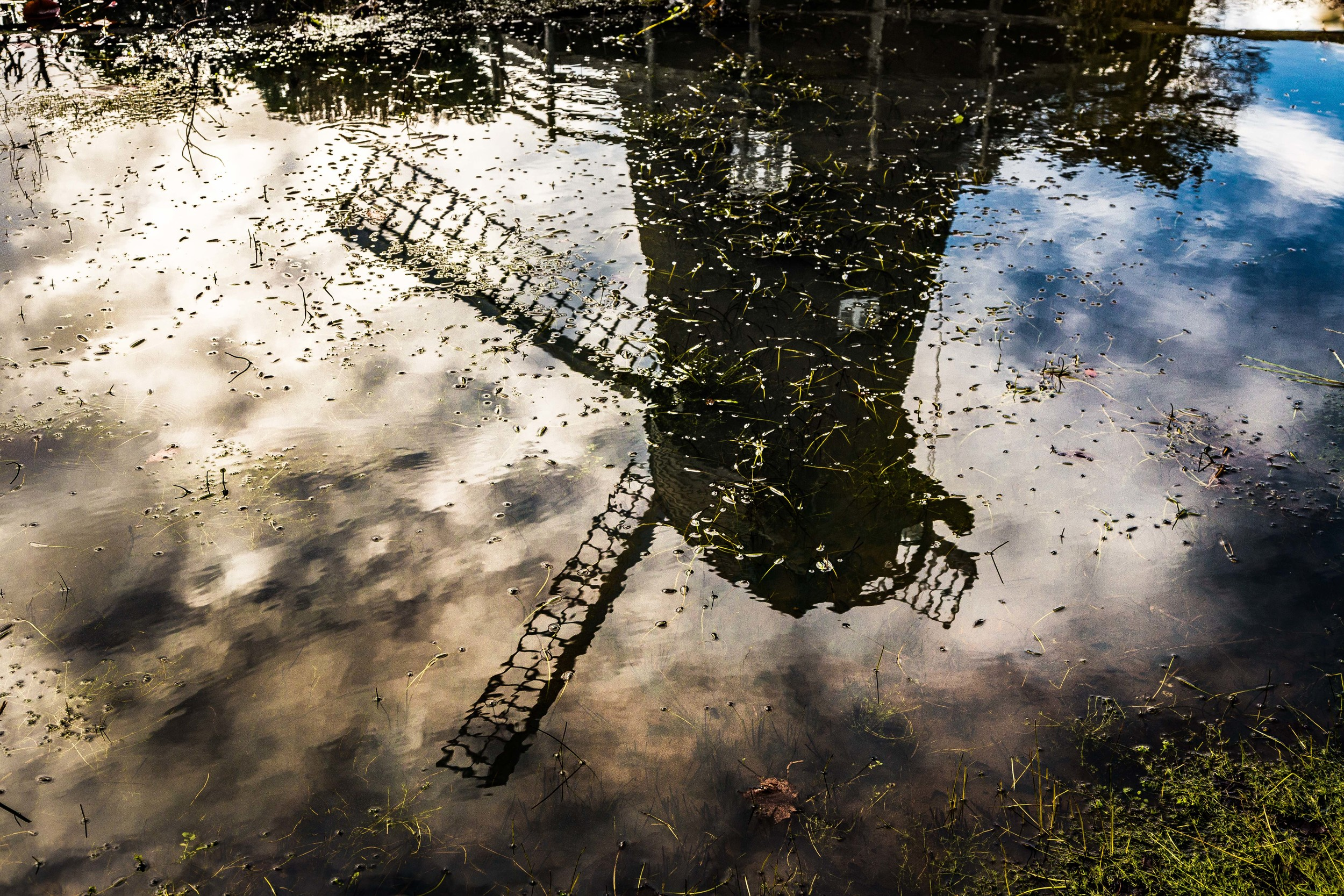 Windmill reflection, Burseldon, Hampshire