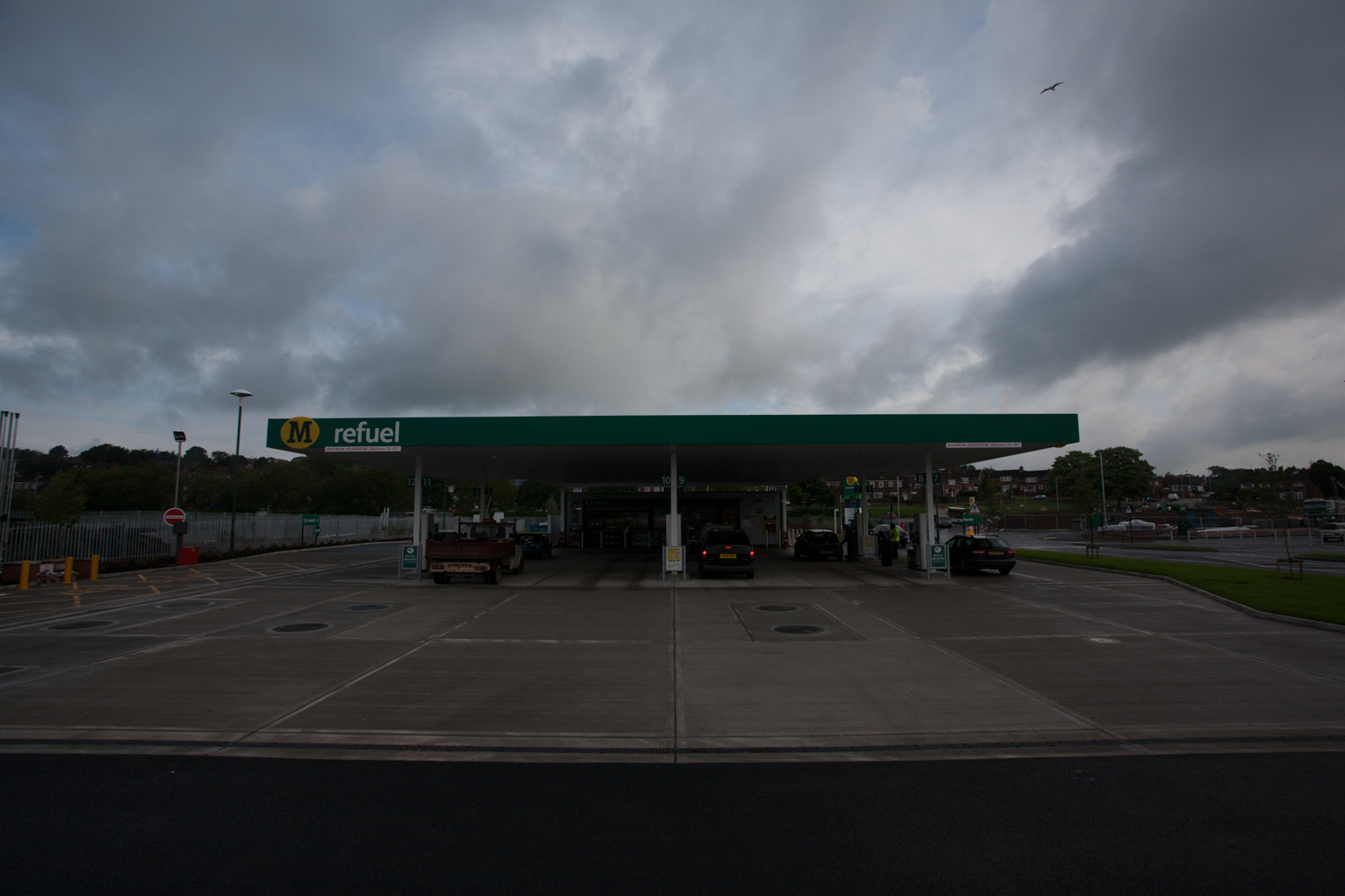 Petrol station, Morrisons, Exeter, by Industrial Photographer Rick McEvoy