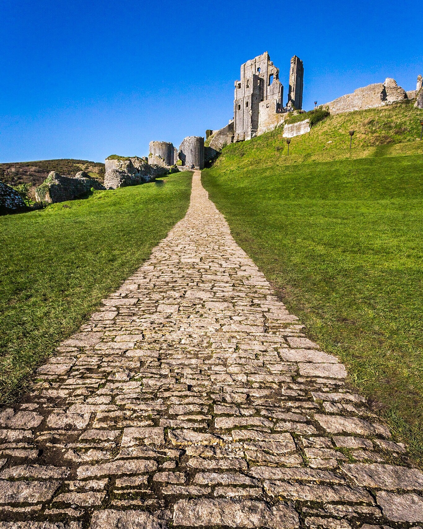 Corfe Castle, Dorset - the edited image from a Smart Preview!