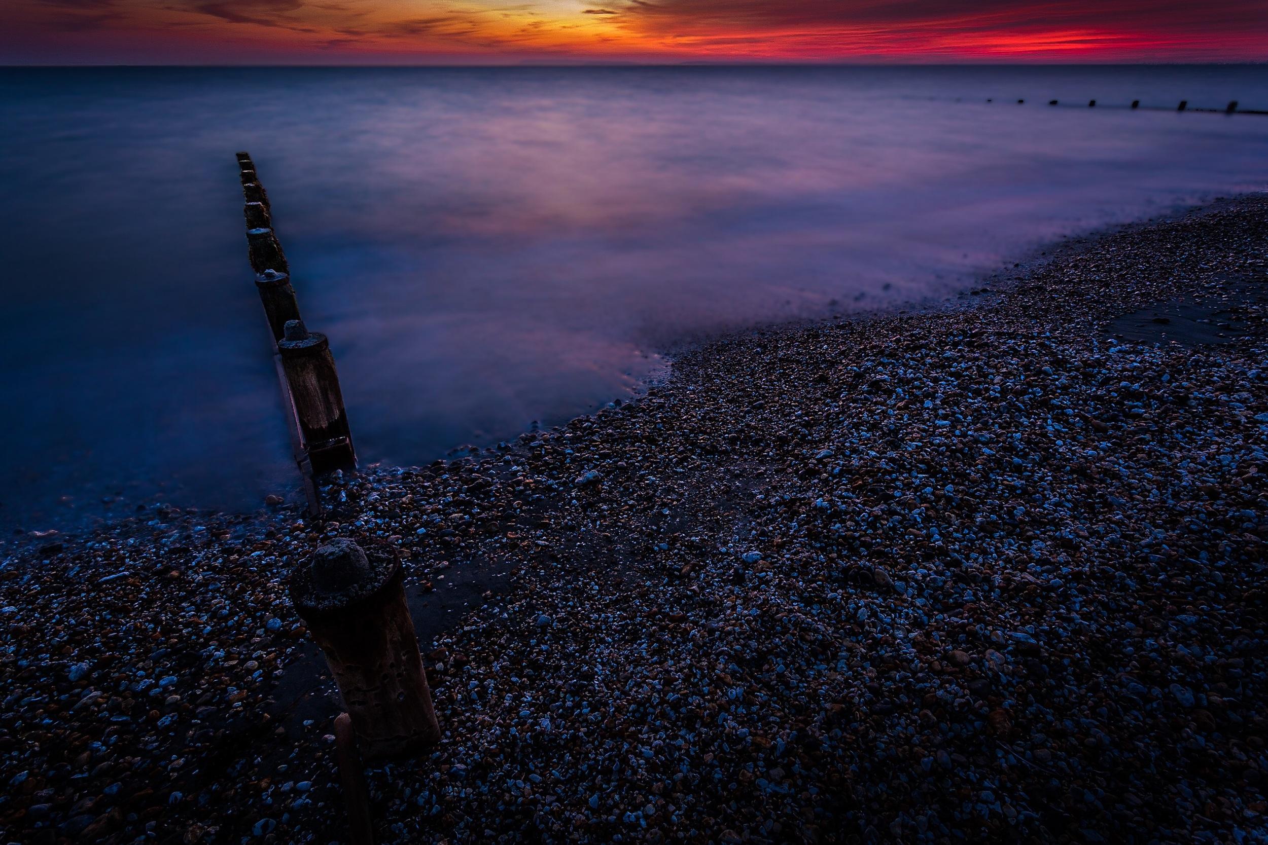 Bracklesham Bay sunset by Rick McEvoy Hampshire Photographer