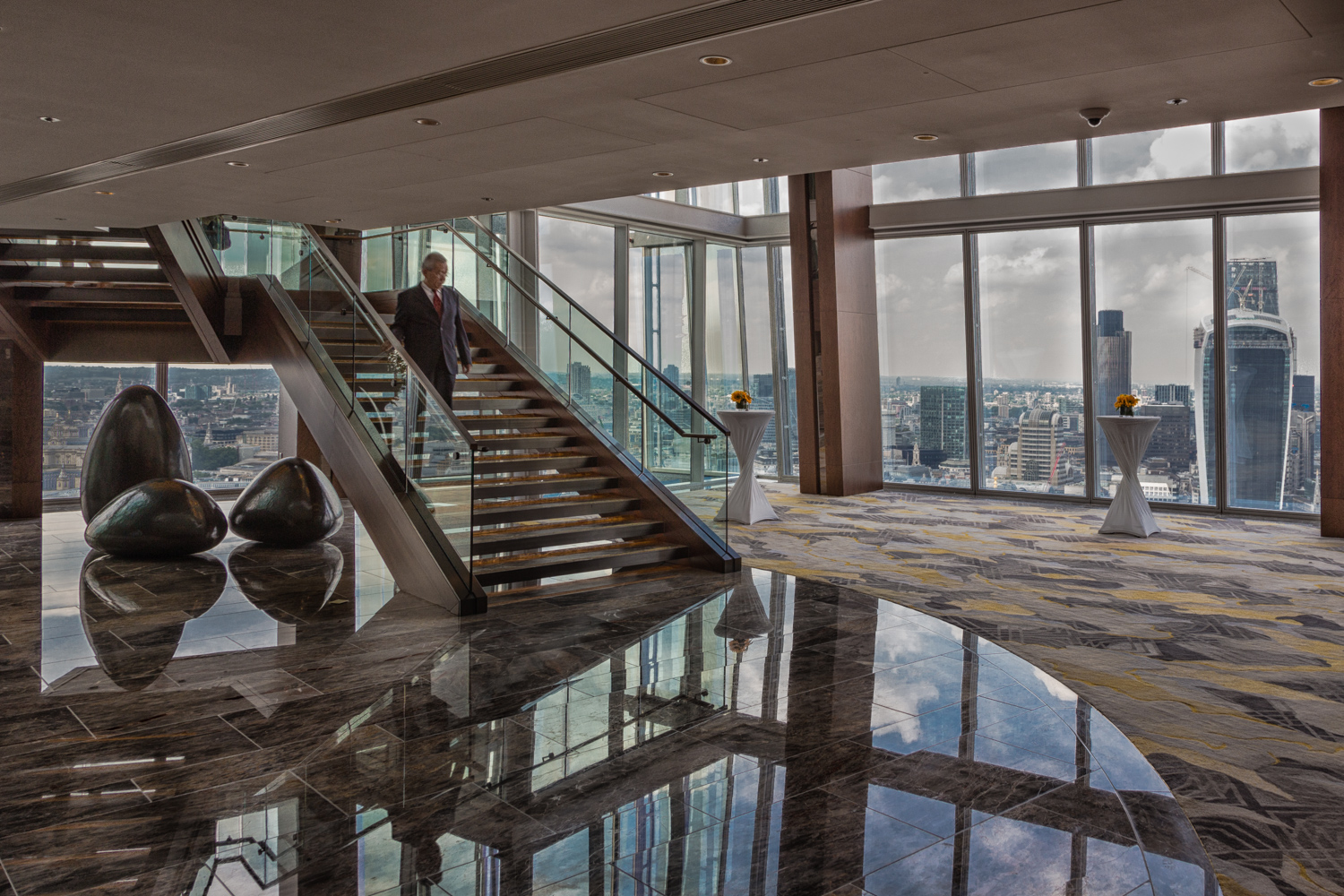The London Shard - interior design photographer shot - Nik Colour Efex Detail Extractor