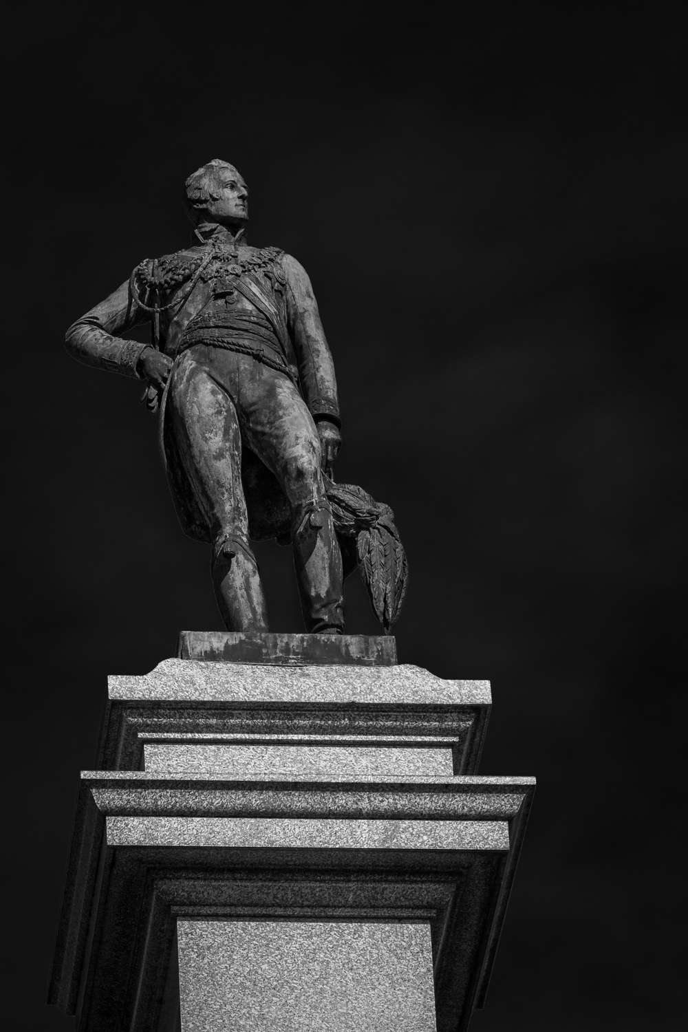 Wellington Memorial - black and white architecture photography in Hampshire by Rick McEvoy